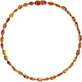 Bammeado Amber Baby Necklace Bean - Cognac (33cm)