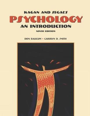 Cengage Advantage Books: Kagan and Segal's Psychology by Carolyn Smith image