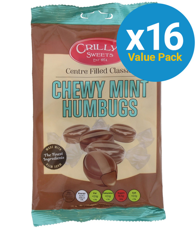 Crillys: Mint Humbugs (130g) 16pk