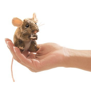 Folkmanis Mini Finger Puppet - Field Mouse image