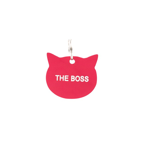 Cat Tag: The Boss (Pink)