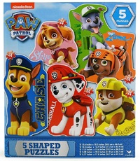Paw Patrol - 5 Shaped Puzzle Pack