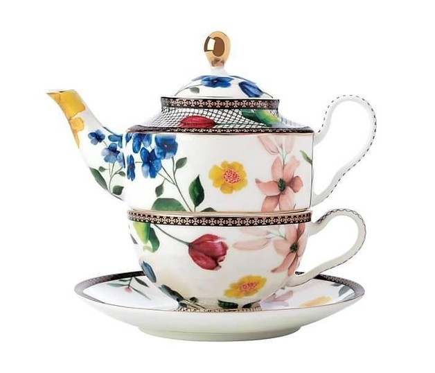 Maxwell & Williams Teas & C's Contessa Tea For One with Infuser 380ML White