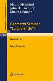 """Geometry Seminar """"Luigi Bianchi"""" II - 1984 by Mauro Meschiari"""