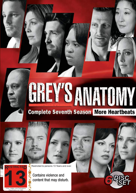 Greys Anatomy Season 7 Dvd On Sale Now At Mighty Ape Nz