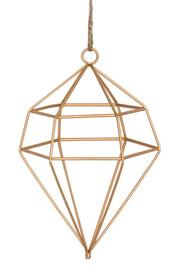 Large Geometric Gold Diamond Hanging Decoration