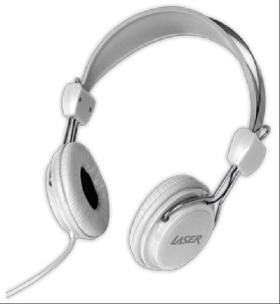Kids Friendly Stereo Headphones (White)