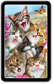 Cat Selfie Lenticular Pencil Tin