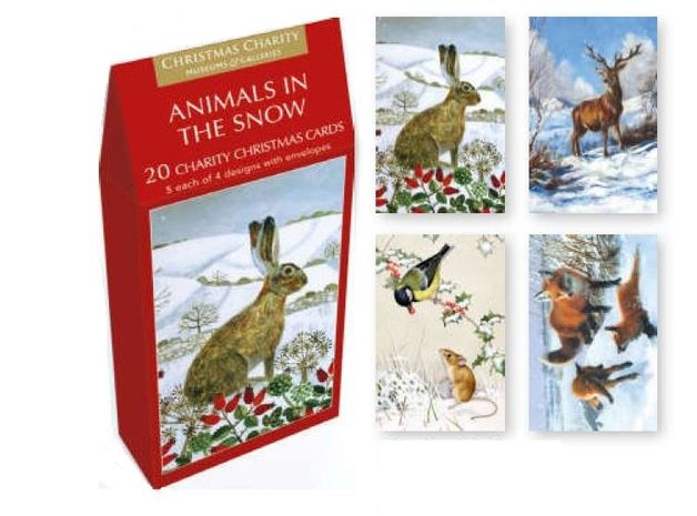 Buy animals in the snow greeting card set at mighty ape nz museums galleries animals in the snow greeting card set 20 pack m4hsunfo