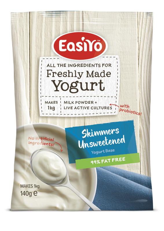 EasiYo: Nutrition Range Skimmers Unsweetened (140g) - 8-Pack