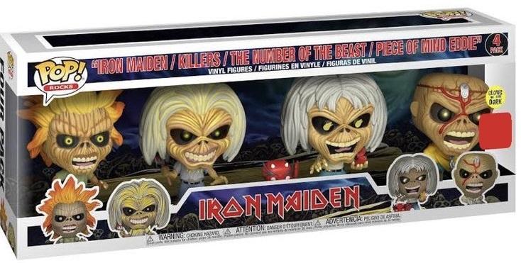 Iron Maiden: Iron Maiden (Eddie) - Pop! Vinyl Figure 4-Pack image