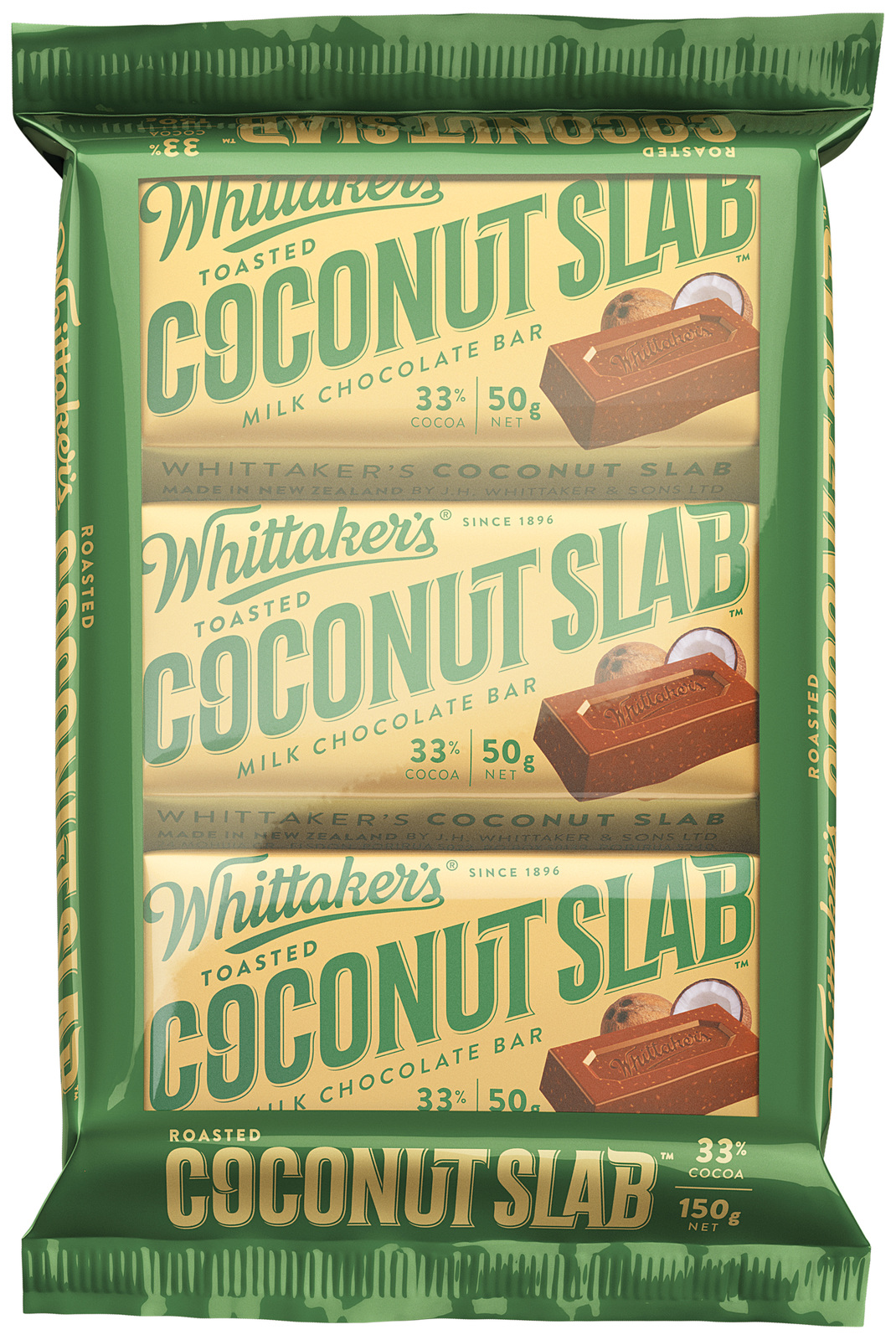 Whittaker's Toasted Coconut Slab (3 Pack) image
