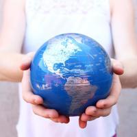 MOVA: Self Rotating Globe - Blue and Silver - 11.5cm image