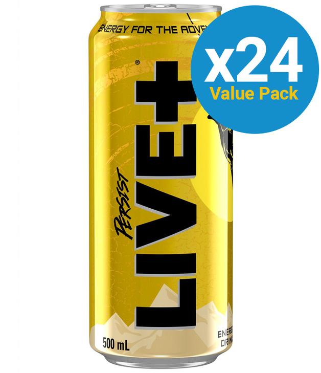 Live Plus Persist Energy Drink 500ml (24 Pack)