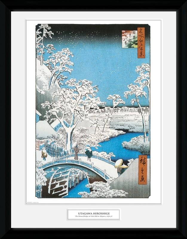 Hiroshige: The Drum Bridge - Collector Print (41x30.5cm)