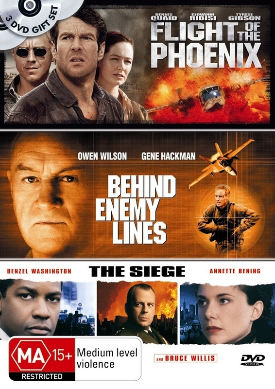 Flight Of The Phoenix / Behind Enemy Lines / Siege (3 Disc Set) on DVD