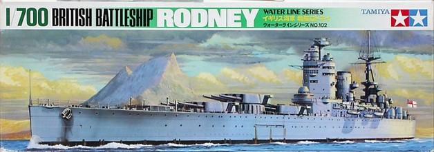 Tamiya 1/700 British Rodney Battleship - Model Kit