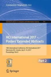 HCI International 2017 - Posters' Extended Abstracts