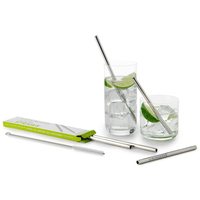 2pk Stainless Steel Straws - Standard Size image