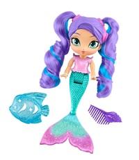 Shimmer & Shine: Rainbow Mermaid Bath Doll - (Nila)