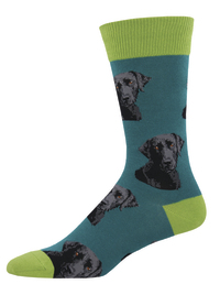Socksmith: Men's Lab-Or of Love Crew Socks - Teal