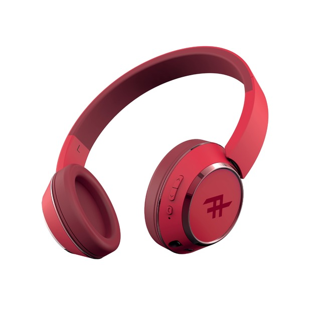 iFrogz: Coda Wireless Bluetooth Headphones With Mic - Red