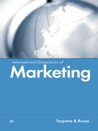 International Dimensions of Marketing by Vern Terpstra image