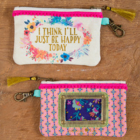 Natural Life: Id Pouch - Happy Today Floral Pink