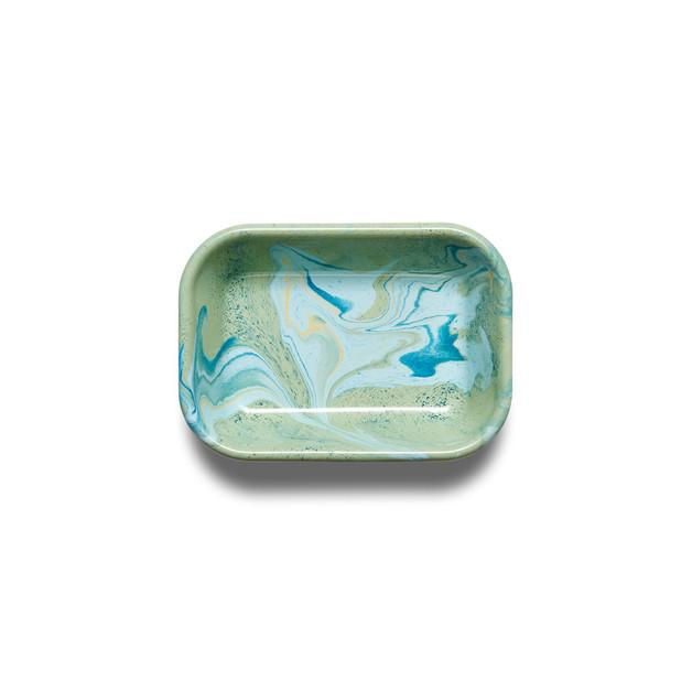 Bornn: Enamel Marble Small Baking Dish - Mint