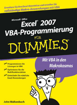 Excel 2007 VBA-Programmierung Fur Dummies by John Walkenbach