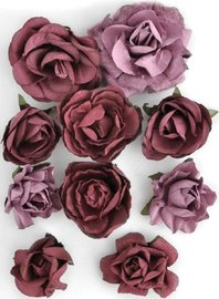 Kaisercraft: Paper Blooms - Cranberry