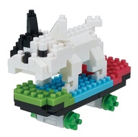 nanoblock: Animals in Action - Skateboarding Dog