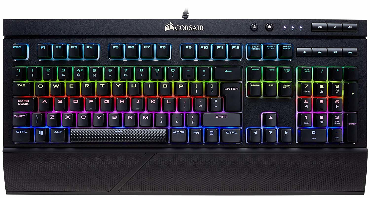 Corsair K68 RGB Mechanical Gaming Keyboard (Cherry MX Red) for PC image