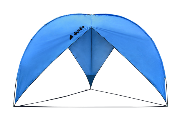 Triangle Beach & Sun Shade Shelter (380x380x230cm) | Blue