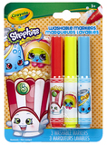 Crayola: Shopkins - Poppy Corn Pipsqueak Markers - 3 Pack