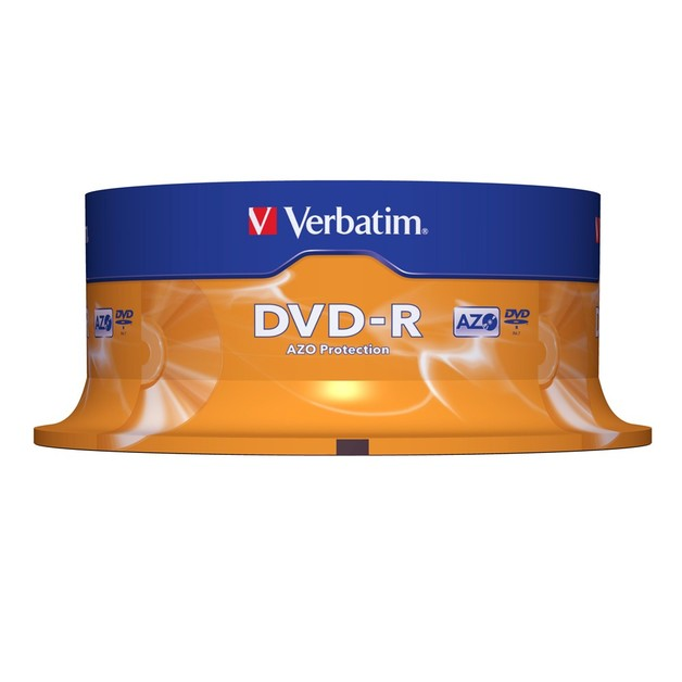 Verbatim DVD-R 4.7GB Spindle 16x (25 Pack)