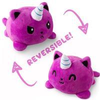 TeeTurtle: Reversible Mini Plush - Kittencorn (Purple)