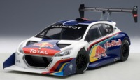 AUTOart: 1/18 Peugeot 208 T16 Pikes Peak Race Car 2013 (Red Bull) - Diecast Model