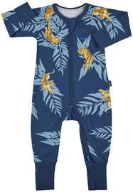 Bonds Zip Wondersuit Long Sleeve - Crouching Tiger (6-12 Months)