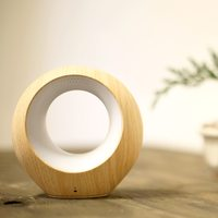 AirSense Smart Air Quality Monitor - Wood/Beige