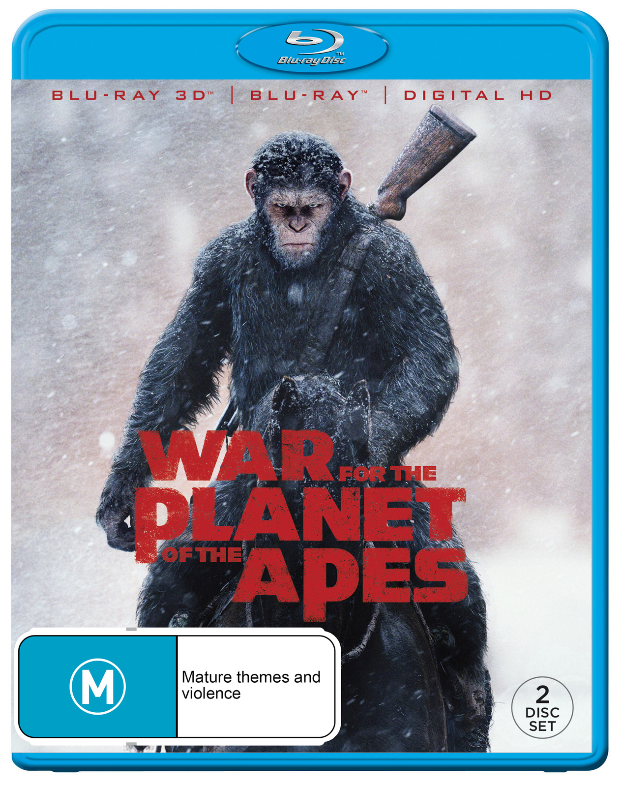 War For The Planet Of The Apes on 3D Blu-ray image