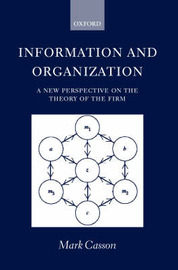 Information and Organization by Mark Casson image