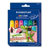 Staedtler Noris Club Gel Crayons for Glass Pkt6