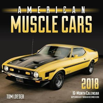 buy american muscle cars 2018 wall calendar at mighty ape nz