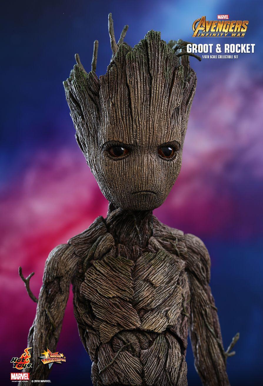 "Avengers Infinity War: Groot & Rocket - 12"" Articulated Figure Set image"