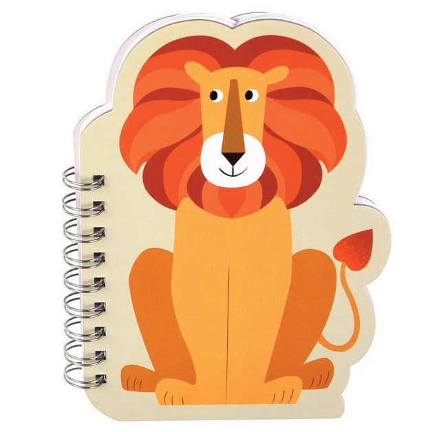 Colourful Creatures Spiral Notebook - Lion