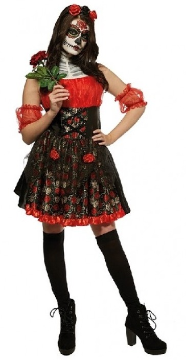 Day of The Dead: Red Rose - Women's Costume (Medium) image