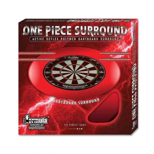 One Piece Dartboard Surround - Red