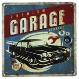 MPH: Metal Wall Plaque - Garage