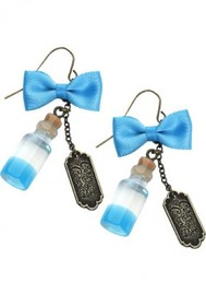 Neon Tuesday: Alice In Wonderland - Curiouser Bottle Earrings